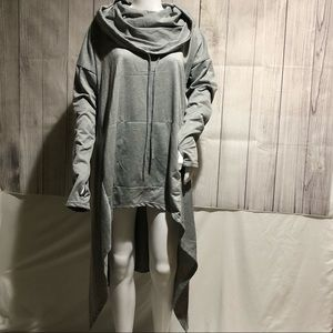 NWOT - Gray sleeved poncho